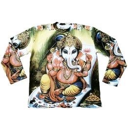 Ganesha Karma Hindu Religion Tattoo Goa Dj T Shirt L
