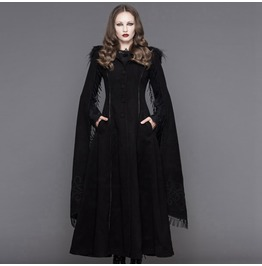Angel Sleeve Tasseled Goth Long Coat Ct02401/Ct02402