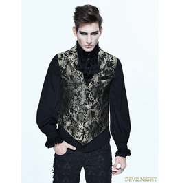 Gothic Vintage Pattern Waistcoat For Men Wt012