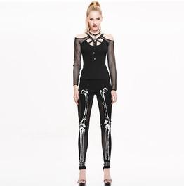 Goth Skeleton Bones Leggings Pt036