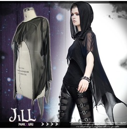 Punk Visual Demon Hunter Shade Realm See Through Hooded Mantle Bolero Ca008