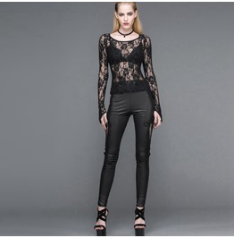 Punk Leather & Lace Leggings Pt031