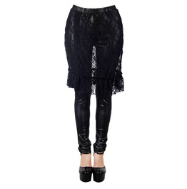 Punk Leggings With Ruched Lace Skirt Pt019
