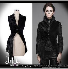 Goth Vampire Aristocrat Countess Camilla Tuxedo Dress Waistcoat Wt002