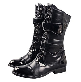 Genuine Leather Military High Lace Boots