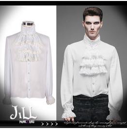 Goth Baroque Aristocrat Phantomhive Windsor Bard Jabot Dress Shirt Sjm127 W