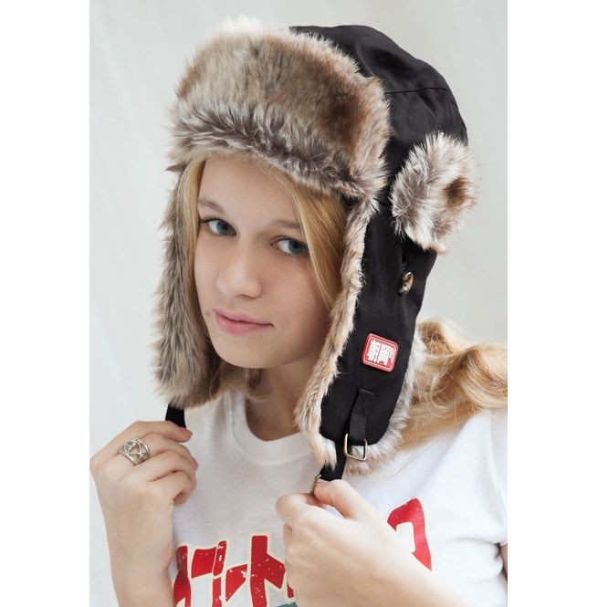 4497418e99326 Japanese Style Trapper Hat Faux Fur Bomber Russian Hat