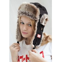 Japanese Style Trapper Hat Faux Fur Bomber Russian Hat Ushanka Mens Womens
