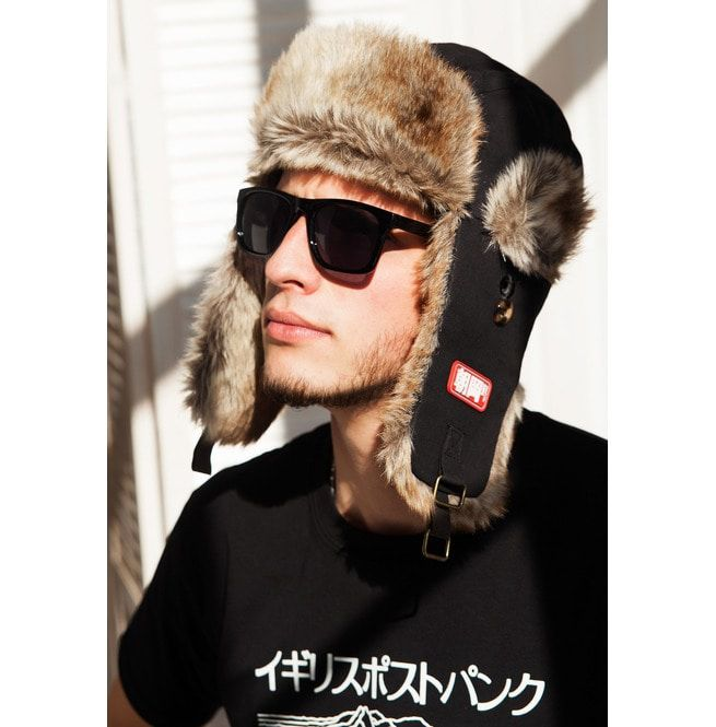 fad8c056728 Japanese Style Trapper Hat Faux Fur Bomber Russian Hat