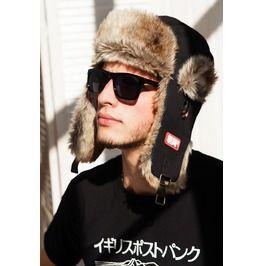 Japanese Style Trapper Hat Faux Fur Bomber Russian Hat Ushanka Japan