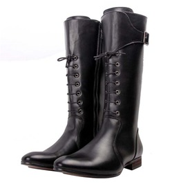 Knee High Pointed Toe Genuine Leather Riding Boots