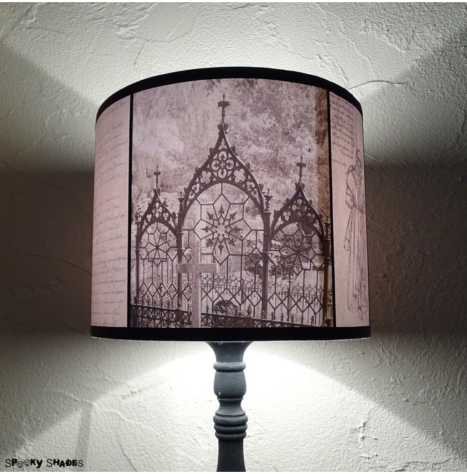 Requiescat in pace graveyards black and white gothic drum lamp shade aloadofball Image collections