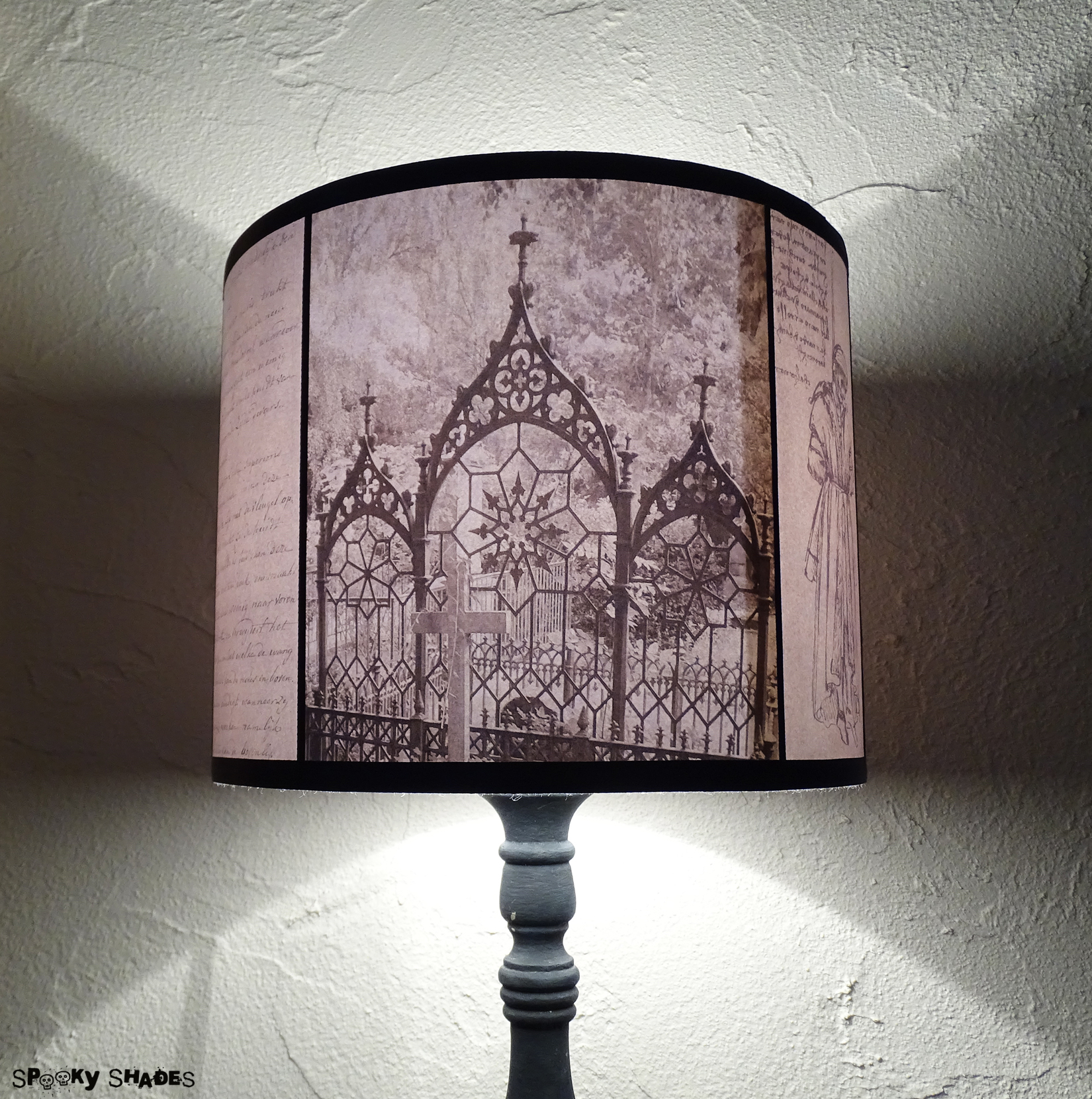 Requiescat in pace graveyards black and white gothic drum lamp shade rebelsmarketrequiescatinpacegraveyardsblackandwhitegothicdrumlampshadelighting6g aloadofball Image collections