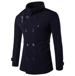 Men's Woven Double Breasted Pea Coat