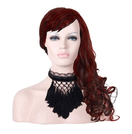 Lace & Net Tasseled Choker As014