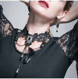 Lace & Bead Goth Neck Piece As026