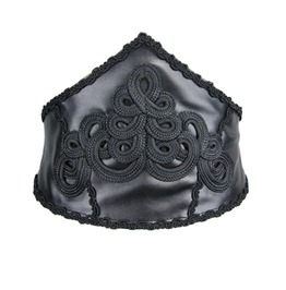 Broad Gothic Leather Waist Girdle As038