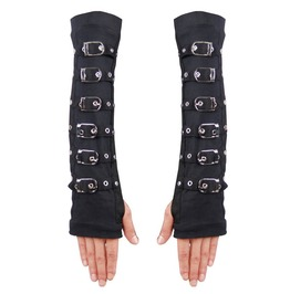 Strappy Fingerless Long Gloves Hds114