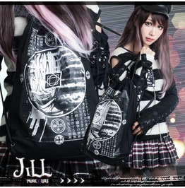 Punk Heavy Rock Ayakashi River Styx Soul Purge Drawstring Backpack【Jag0044】