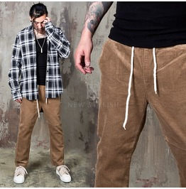 Retro Corduroy Bending Pants 199