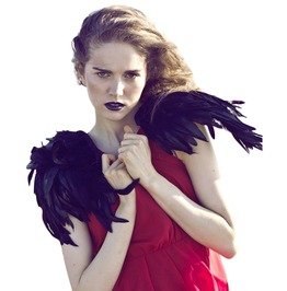 Gothic Black Wings Shoulder Accessory