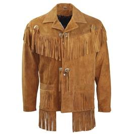Mens Suede Fringe Leather Jacket Men Suede Leather Fringe Jacket For Mens