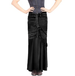 Steampunk Vintage Satin Long Skirt