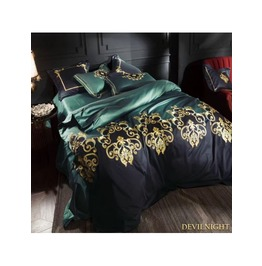 Green Gothic Vintage Palace Embroidery Comforter Set Dccs 0003