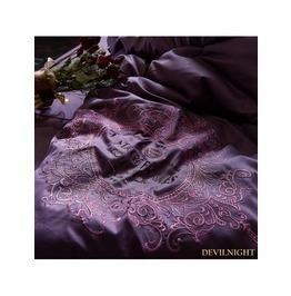 Purple Gothic Vintage Palace Embroidery Comforter Set Dccs 000