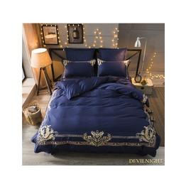 Blue Gothic Vintage Palace Embroidery Comforter Set Dccs 0007