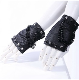 Steampunk Studded Cutaway Gloves 1001