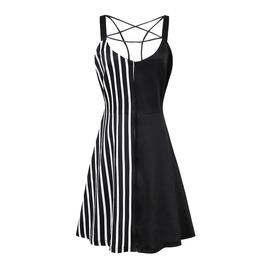 Sexy Pentagram Striped Mini Dress Womens