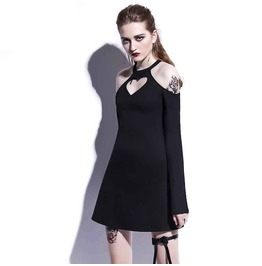 Heart Me Long Sleeve Harajuku Gothic Dress Womens