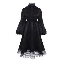 Gothic Lolita Lace Dress Long Sleeve Womens