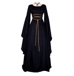 Medieval Maxi Rope Dress Womens Gothic