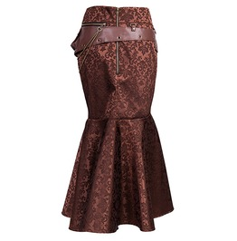 Steampunk High Waist Mermaid Tail Skirt