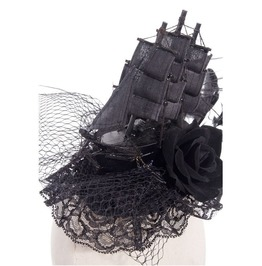 Steampunk Victorian Pirate Burlesque Ship Design Headdress Fascinator