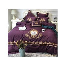 Purple Gothic Vintage Palace Embroidery Comforter Set Dccs 0011