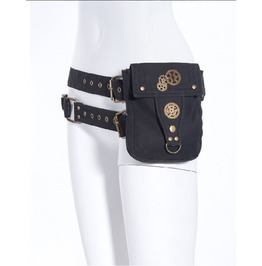 Steampunk Military Industrial Style Waist Bag