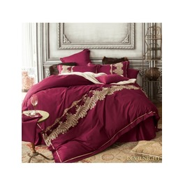 Gothic Vintage Palace Embroidery Comforter Set Dccs 0013