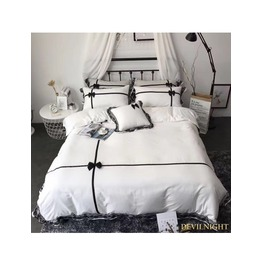 White And Black Gothic Sweet Comforter Set Dccs 0016