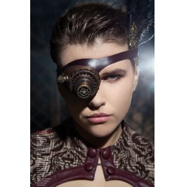Steampunk Cyber Post Apocalyptic Led Lights Single Monocle Goggles