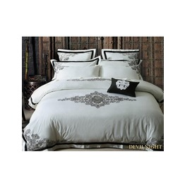 White And Black Gothic Vintage Palace Comforter Set Dccs 0017