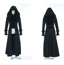 Gothic Long Hooded Coat 21230