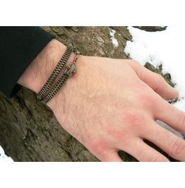 Steampunk Snake Zipper Bracelet Ouroboros Wrap Bracelet