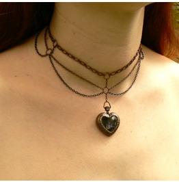 Steampunk Chandelier Locket Choker Boho Festoon Chain Necklace