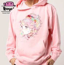 Kawaii Pastel Hoodie Girl Pink