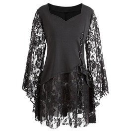 Gothic Layered Bell Sleeve Top