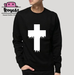 Cross Pastel Gothic Harajuku Cool Unisex Sweatshirt