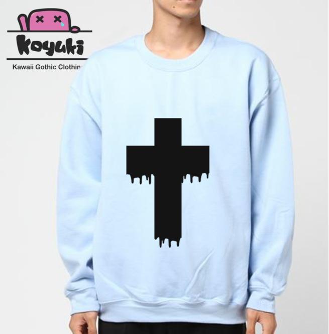 rebelsmarket_cross_pastel_gothic_unisex_blue_sweatshirt_hoodies_and_sweatshirts_3.png
